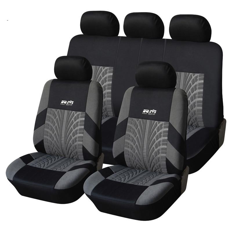 Cubierta de asiento de coche poliéster Telas universal automóvil Fundas de asientos para asiento de coche protector car styling Accesorios de interior