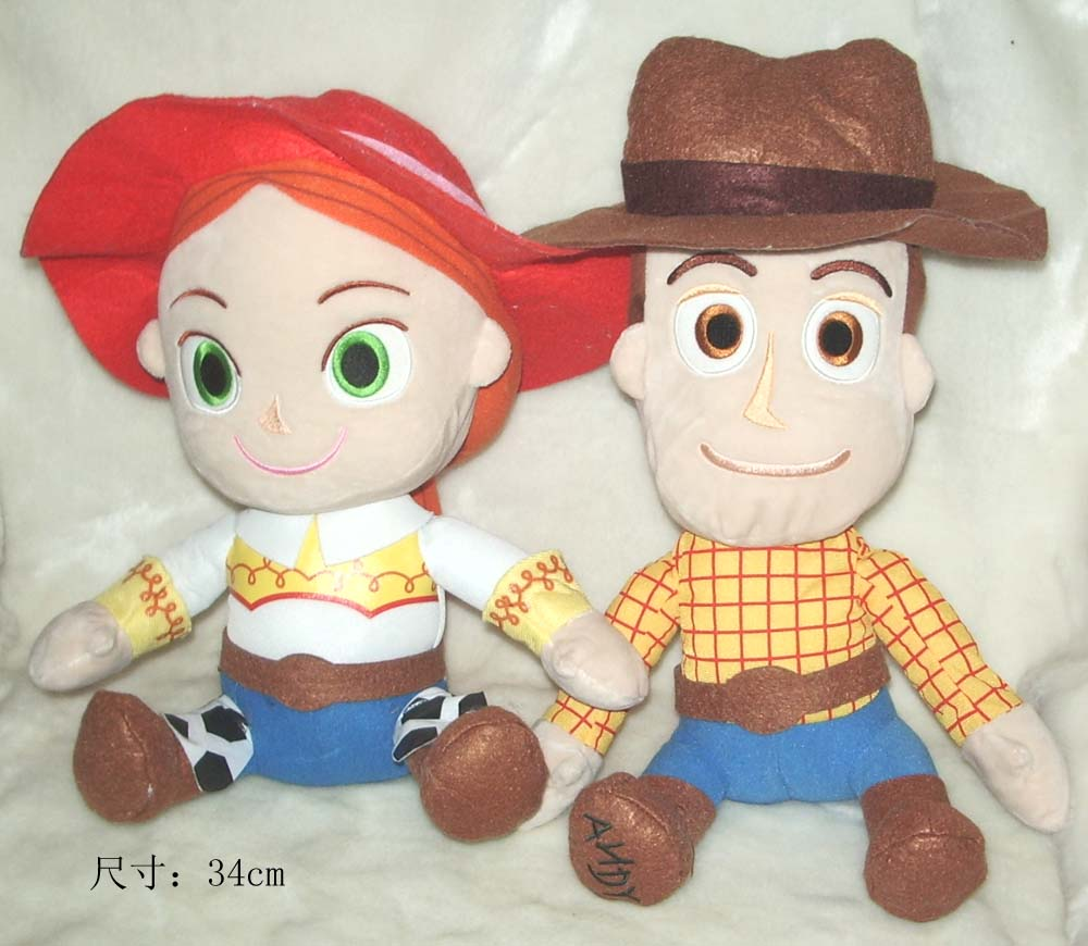 Original Rare Toy Story Woody Jessie Cute Soft Stuffed Plush Toy Doll Birthday Gift Children Boy Girl Gift Limited Collection