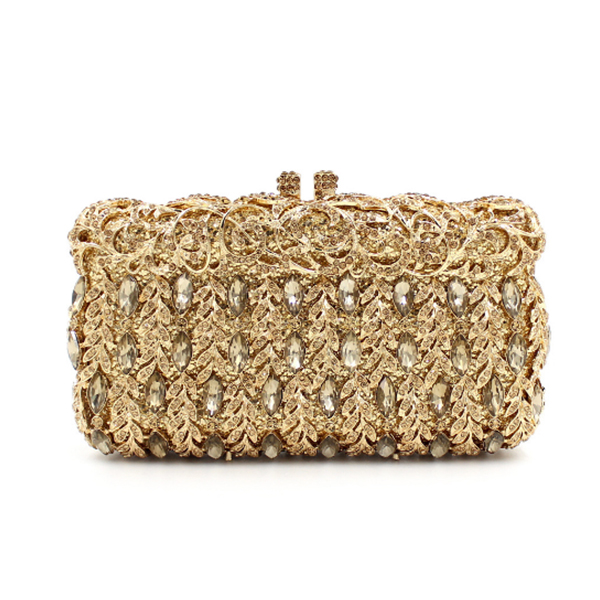 College student graduation party prom day clutches Minaudiere luxury wedding gold clutch purses Bridesmaids hasp wallets black Сумка