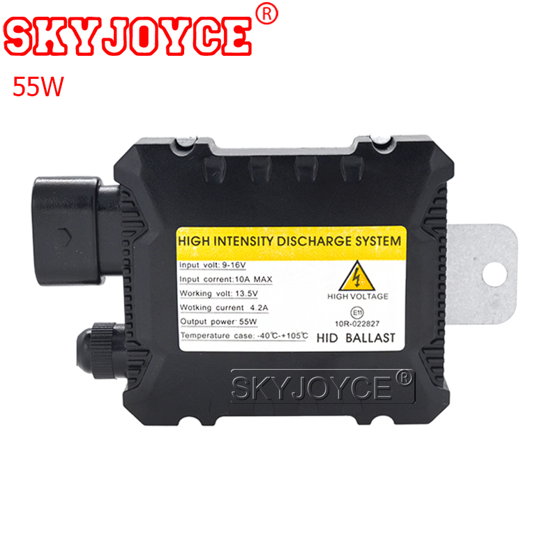 Skyjoyce Hid Xenon Ballast 12V 55W Slim Digital D1S D2S Hid Ballast 55W Blocks Ignition Digital Ballast Automotive Gentle Equipment