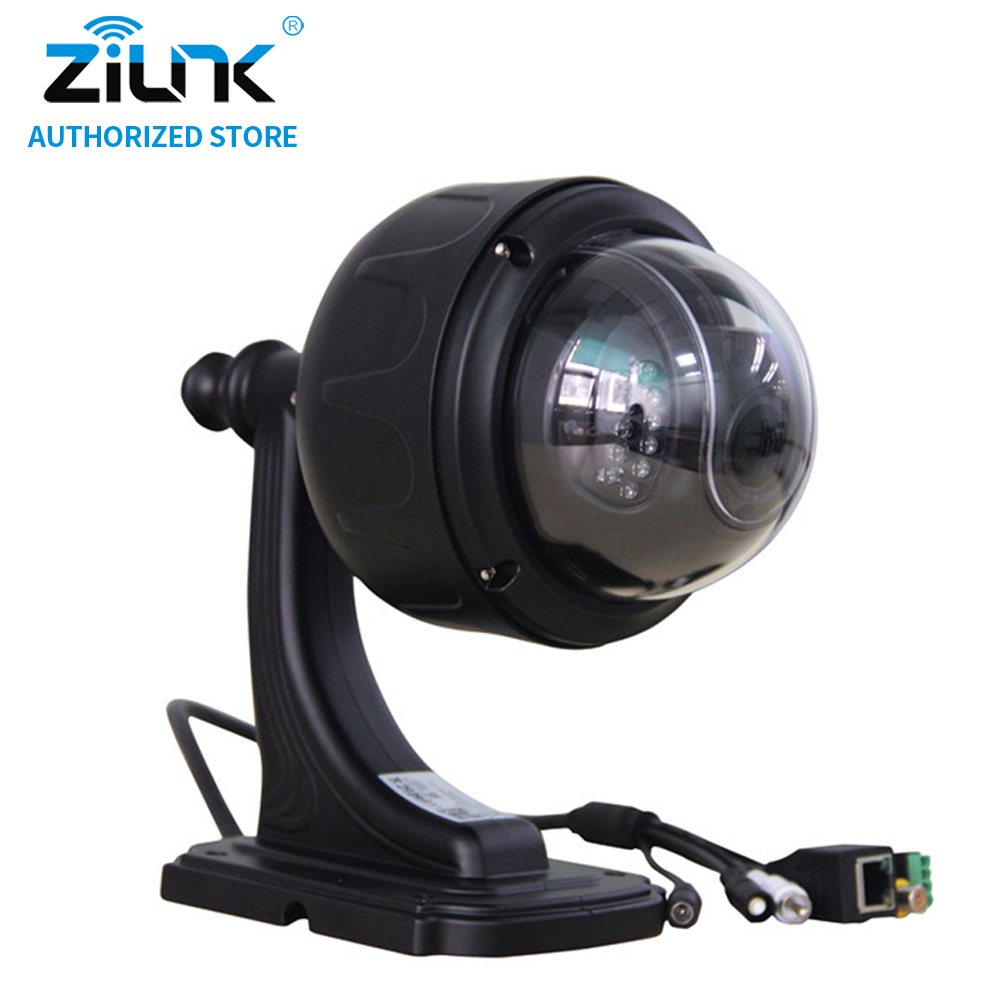 ZILNK WiFi Outdoor HD 960P Preset 1.3 Megapixel 5x Optical Zoom PTZ Wireless IP Camera with Motion Detection Onvif TF Card Black zilnk mini ptz speed dome ip camera 960p 5x optical zoom waterproof cctv wifi support tf card motion detection onvif h 264 black