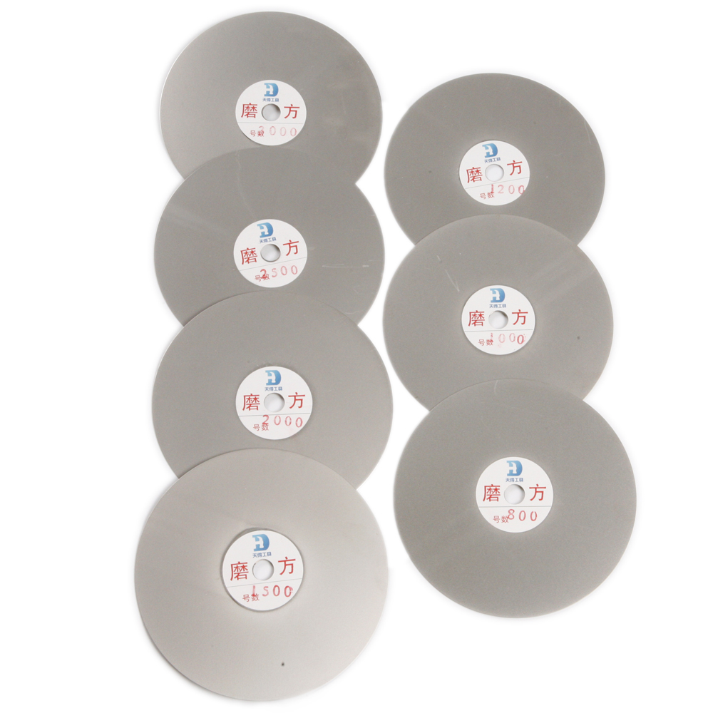 Meilleure Qualité 7 pièces/ensemble 150mm 6 ''Disque Abrasif Diamant Grain 800 1000 1200 1500 2000 2500 3000 pour le Meulage Humide et Sec Roue Chaude