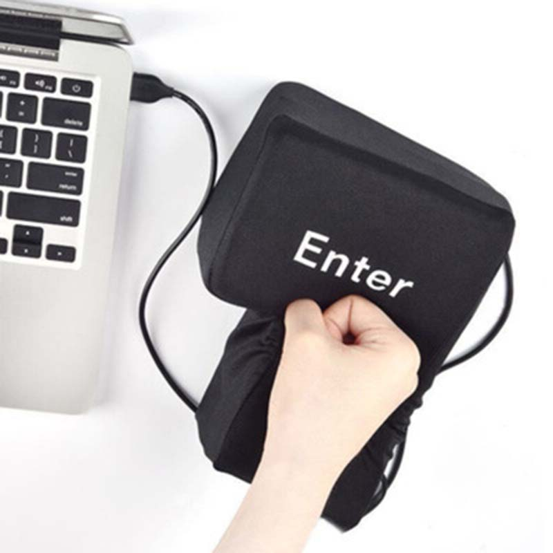 1Pc Novelty Supersized USB Big Enter Key Pillow Stress Relief Tool for Computer