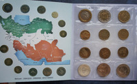 Iran 12pieces/ Set UNC original Coin Not circulated Plastic package