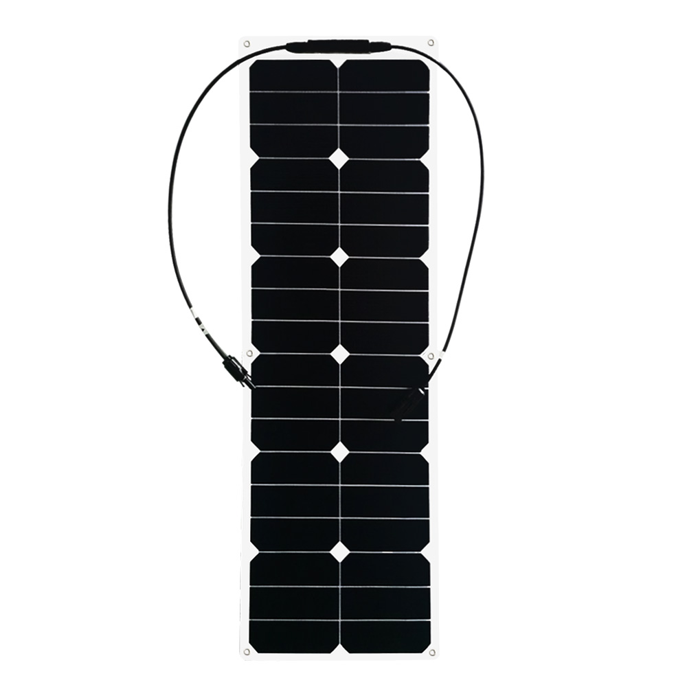 BOGUANG 1PCS 40W ETFE flexible solar panels cell modules for car yacht RV 12V charger with junction box MC4 connector