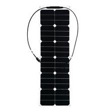 XINPUGUANG 40 W ETFE paneles solares flexibles celular módulos para coche yate RV 12 V cargador con caja de MC4 conector Solpanel