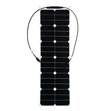 цена Solarparts 1PCS 40W ETFE flexible solar panels cell modules for car yacht RV 12V  charger with junction box MC4 connector