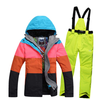 Free shipping 2019 Women's Waterproof Hiking Outdoor Suit Jacket Snowboard Jacket Ski Suit Women Snow Jackets Ski Clothing