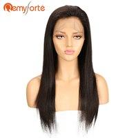 Реми Форте 360 Синтетические волосы на кружеве al парик предварительно сорвал с ребенком волос Remy бразильский Прямые Синтетические волосы на