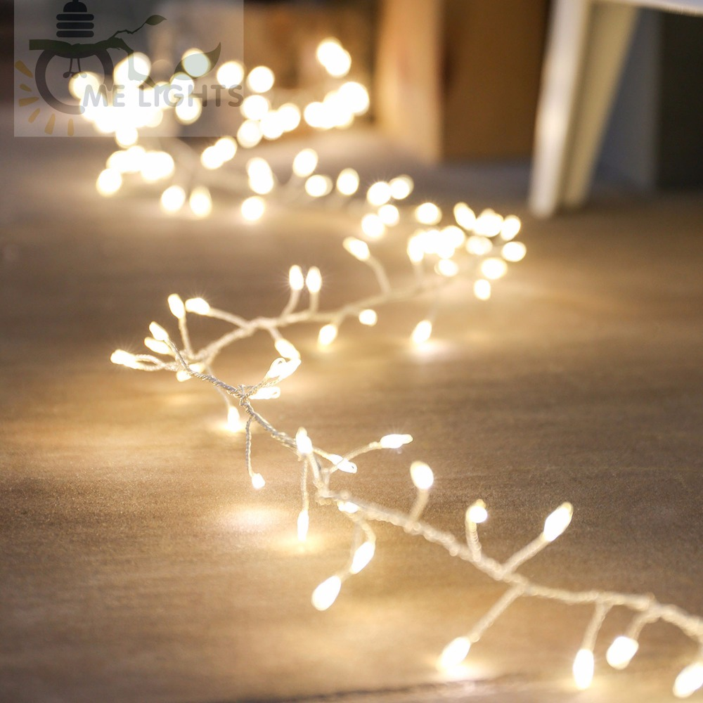 We Install Fairy Lights: LED Cluster String Lights 10 Meters 300 LED Copper Fairy