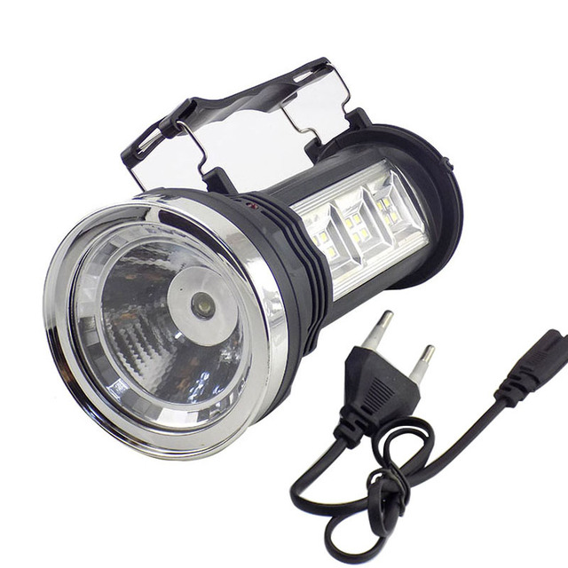 Powerful Led Flashlight Solar Hand  Lamp