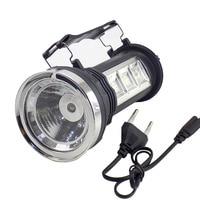 Мощность ful светодиодный фонарик перезаряжаемые солнечной энергией встроенный аккумулятор факел Ручной фонарь фонари огни для походы рыба...