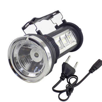 Powerful Led Flashlight Solar Power rechargeable built-in battery Torch Hand lamp Lantern Lights for Hiking Fishing Camping - DISCOUNT ITEM  30% OFF All Category