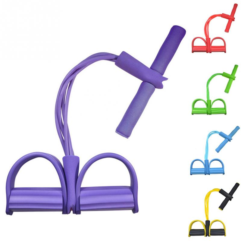 4 Tube Strong Fitness Yoga Resistance Bands (10)