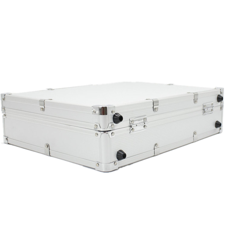 Professional Portable Aluminum Flight Case for SLX24 PGX24 Wired Wireless Microphone System Microphone carrying cases-in Microphones from Consumer Electronics    3