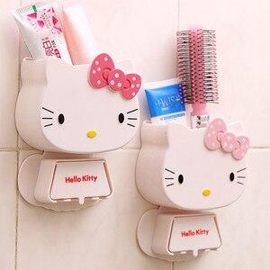 Porte-brosse à dents adhésive 1 PC | Porte-brosse à dents avec crochet, boîte de rangement pour brosse à dents adhésive, accessoires de salle de bain, organisateur de brosse à dents