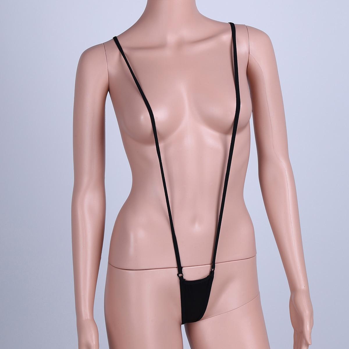 Sexy Swimsuit Monokini With Adjustable Strap One Piece Women Bikini Bottoms Swimwear Bodysuit Cheeky Lingerie Beach V Thong