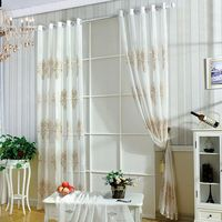 1pcs Country Style Decorative Cloth Tulle Curtain French Curtains For The Living Room Pure Tulle Curtains