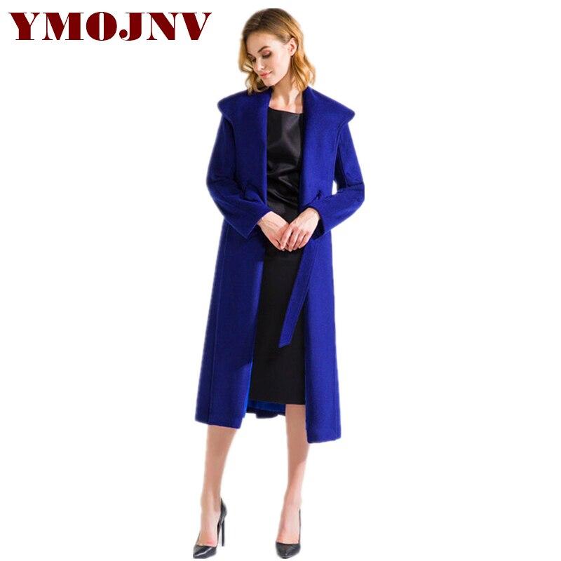 De Femme Conception Long Capes Ymojnv 2018 Automne Nouvelle Mode Blue Manteau Hiver Bleu Laine Moyen Et Marque Femmes Ponchos TSwZwq1