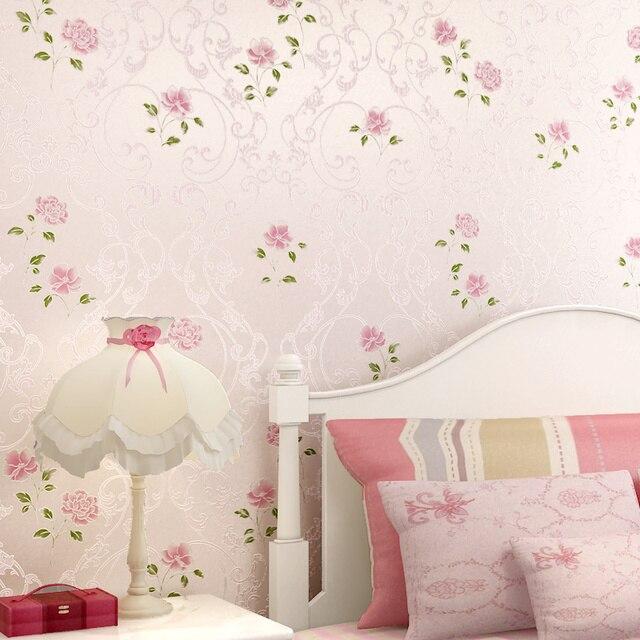 PAYSOTA 3D Blume Zimmer Tapete Romantische Garten Schlafzimmer Wohnzimmer  Vlies Wandpapierrolle