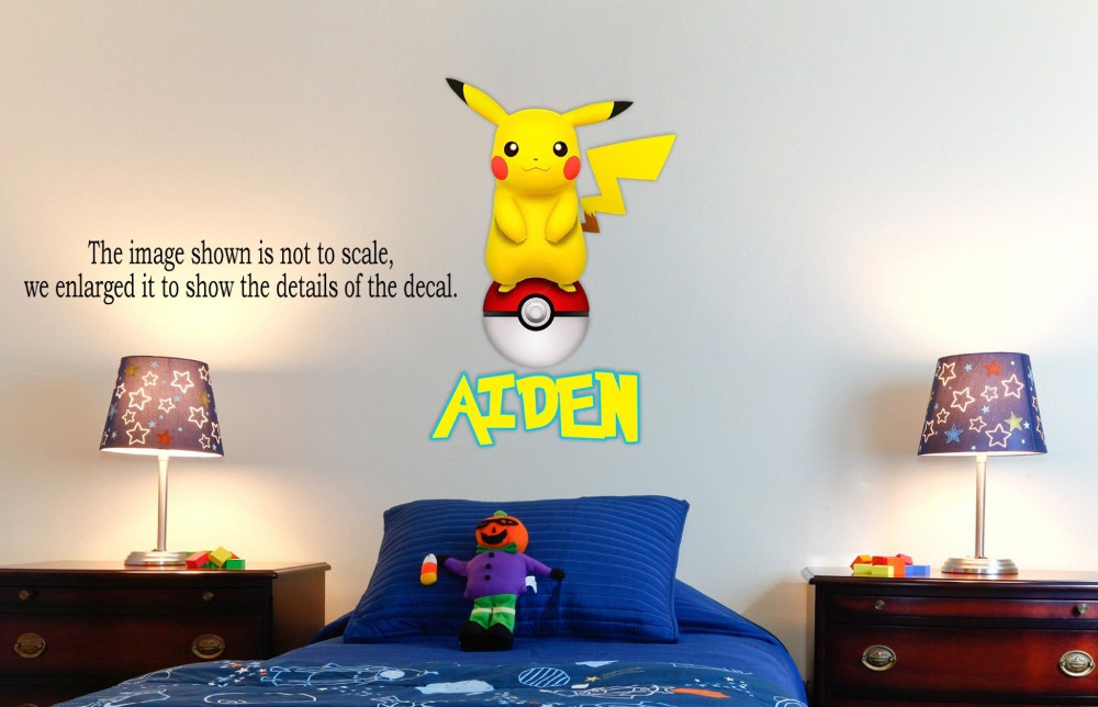 Personalized Pokemon Pikachu Wall Decal (Removable And Replaceable)  30inX20in In Wall Stickers From Home U0026 Garden On Aliexpress.com | Alibaba  Group