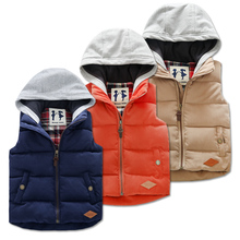 Children's Clothing Cotton Vests Waistcoat 2016 Autumn and Winter Boys and Girls Thickened Coats