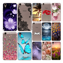 Goterfly Silicone Soft Capa For Huawei Y6II cute phone case Y62 CAM-L21 cool printing protective