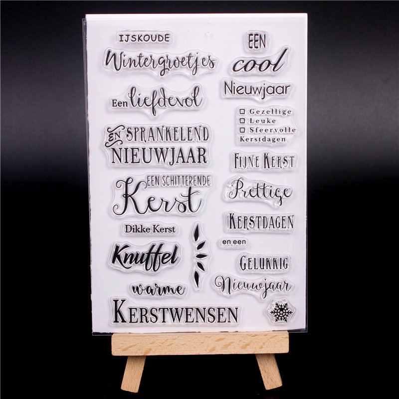 Dutch Word Transparent Clear Silicone Stamps for DIY Scrapbooking Card Making diy photo Roller album Decorative Netherlands