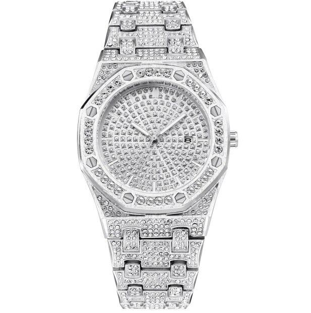 Armbanduhr Uhr Männer Herren Edelstahl Us16 In bling Luxus 40Off Out 99 Diamant Iced Relogio Masculino Für Quarz Kleid Uhren Mann Silber qpGSMUzV