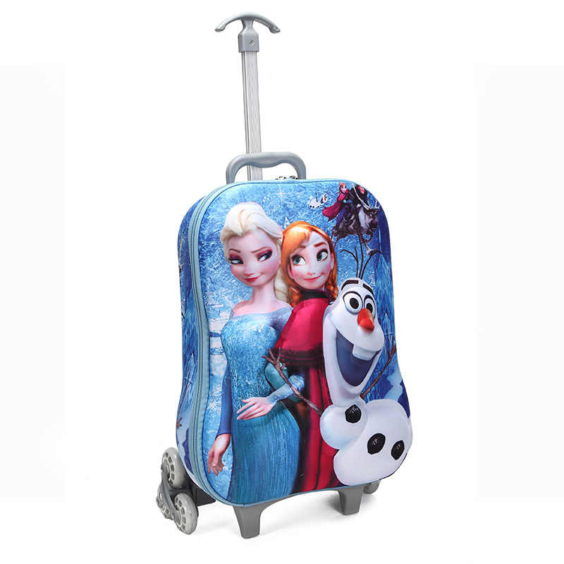 Walizka na kółkach dla dzieci 3D Anime stereo Student pokrowiec na wózek zestaw Cute boy girl cartoon torba na Lunch piórnik prezent dla dzieci