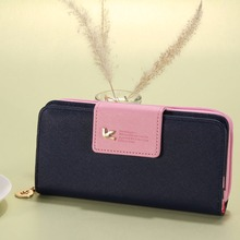 Women Brand PU Leather Long Leather Clutch Bag Zipper Wallet Card Holder