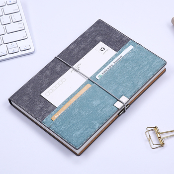 Laptop Simple A5 Leather Business Notebook Conference Notebook Tape Office Supplies Thickening Job Notebook
