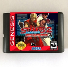 Улицы ярости 2 Street Fighter Edition 16 бит MD игровая карта для sega Mega Drive для sega Genesis