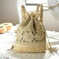 Newest Drawstring Handmade Women Messenger Bags Summer totes beach bag Holiday straw bag big knitting Feminine Woven Bags BP0062