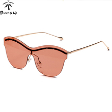 f13f4b2163 Dress U Up DRESSUUP Classic Rimless Sunglasses Women Brand Designer UV400  Mirror