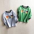 Весна Прекрасный Fox Kids Тис Baby Дети Мальчики Девочки Одежда с длинным Рукавом Детская Одежда Малыша Детские футболки Мультфильм тройники