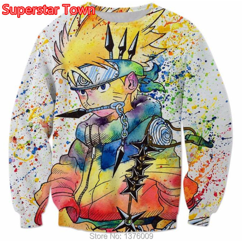 Naruto Uzumaki 3D Sweatshirt Japan Anime Funny Print Unisex T shirt Cartoon Casual Shirt Tee Top
