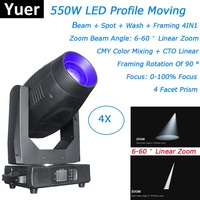 Lyre LED 550W Moving Head Light Beam Spot Wash Framing 4IN1 Moving Head For Stage Theater Wedding Disco Light Dj Lighting Effect
