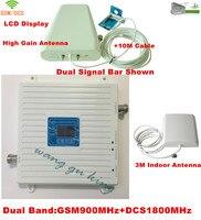 شاشة lcd! مكاسب عالية gsm 4 جرام مكرر إشارة الهاتف المحمول معززة gsm 900 إشارة dcs 1800 الخلوية مكرر amplifier