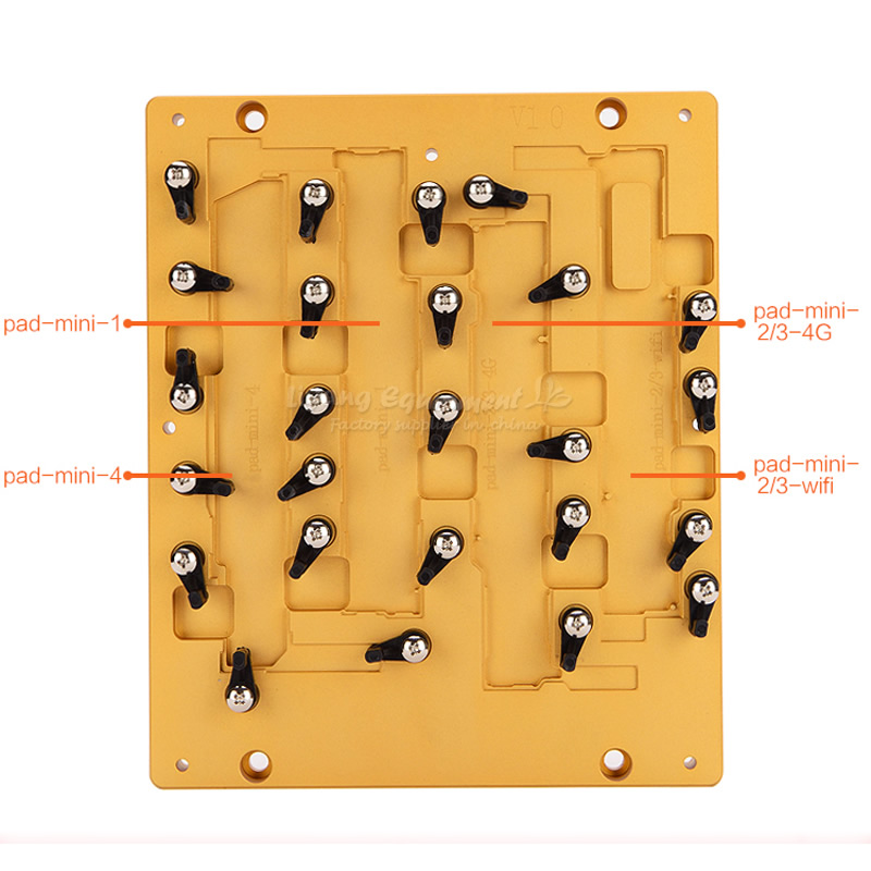 Chip IC CNC Router Parts Mould Jigs for Repair iPad mini 1 2 3 4 All in One new metal 3d sublimation mold printed mould tool heat press for ipad mini 2 for ipad mini mould