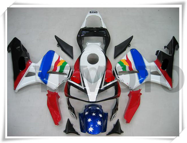 Motor Lucky Blue Coloful Injection Molded Fairing KIT For H O N D A CBR600RR CBR 600RR CBR600 RR 2003-2004 ABS Plastic +3 Gift скамья для пресса bronze gym h 032