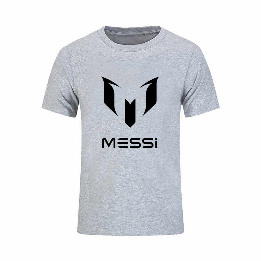 fd18583a0b Brand 2018 Lionel Messi Shirts Barcelona Men's Short sleeve Messi funny t  shirt 100% cotton