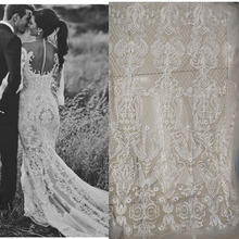 bridal lace african fabric glitter sequin Wedding patches black 1yard
