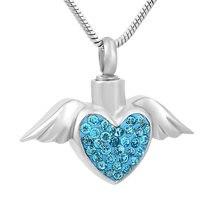Модное ожерелье с подвеской в виде крыла ангела ijd9770 из нержавеющей