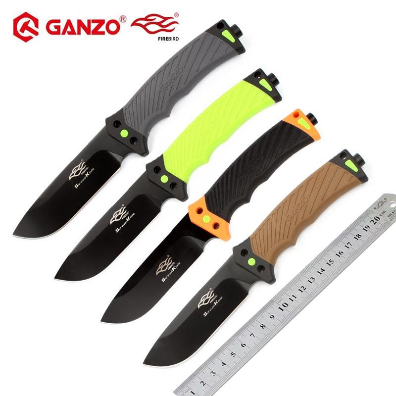 Firebird Ganzo F803 8cr13mov lame ABS poignée couteau à lame fixe couteau de survie extérieur outil de Camping couteau de chasse outil tactique