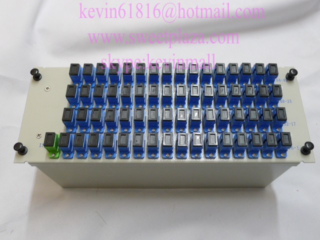 1*64 insertion type splitter, 1X64 splitter with 1*SCAPC input port and 64* SCUPC output ports. FiberCore