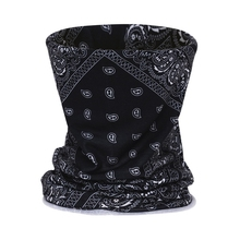 Multi Functional Bandana Cube Black 3D printing Face Mask Sport Headband Biking Tubular Magic Bandanas