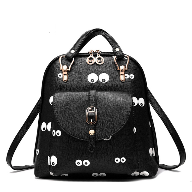 New Designer Women Backpack For Teens Girls Preppy Style School Bag PU Leather Backpack Ladies High Quality Black Rucksack 2015 new fashion designer genuine leather brand ladies preppy style women backpack school backpack women shoulder wnb069