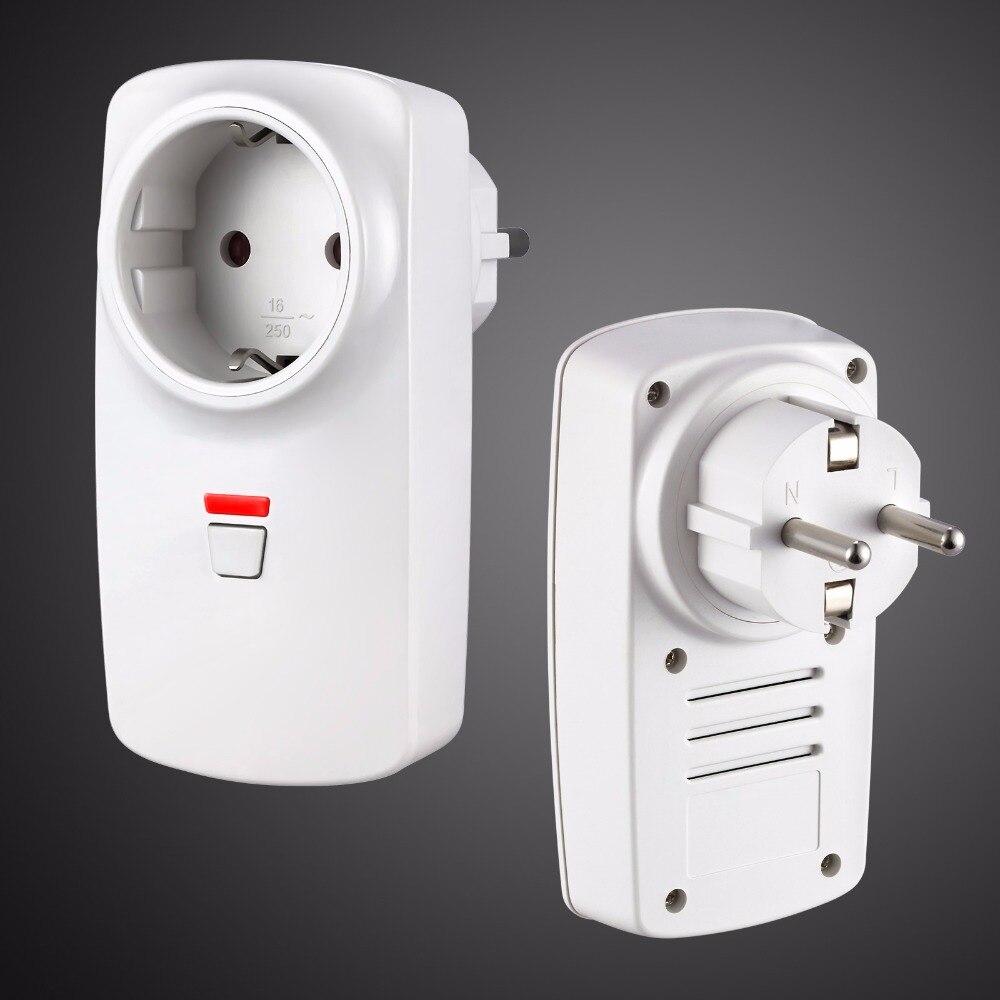 Golden Segurança RF Interruptor de Controle Remoto Inteligente Tomada Plug App Controle 433MHz para G90B Wifi GPRS GSM Segurança Em Casa controle de alarme