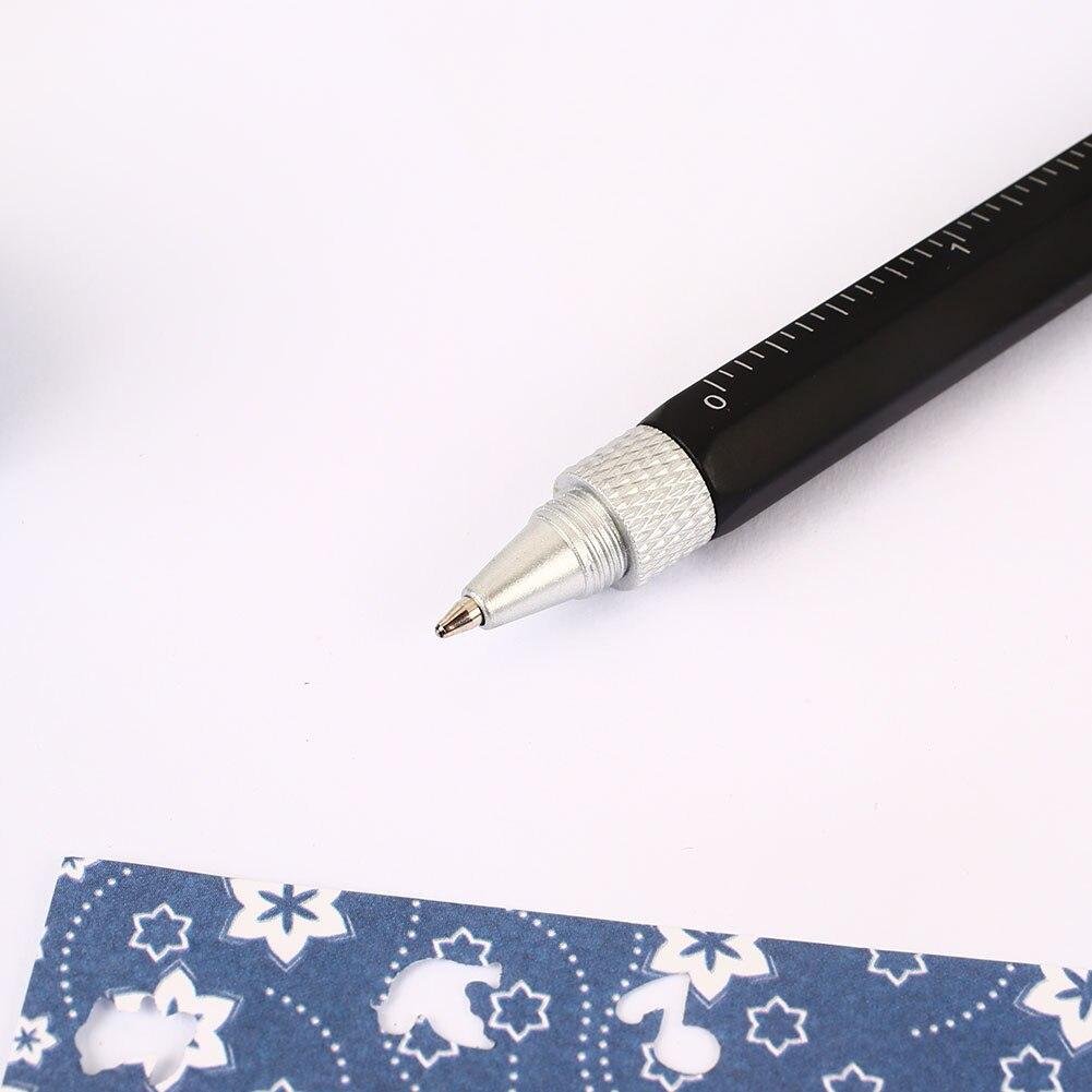 Прибор для измерения уровня отвертка Линейка-уровень инструмент ручка Пластик Планшеты экономического стилус удобно 6-в-1 ручка школьные канцелярские принадлежности